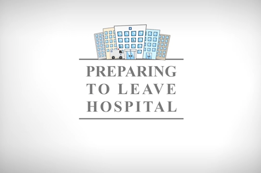 Patient education Animation with tips on how to safely leave hospital