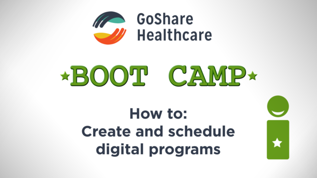 How to create and schedule digital programs