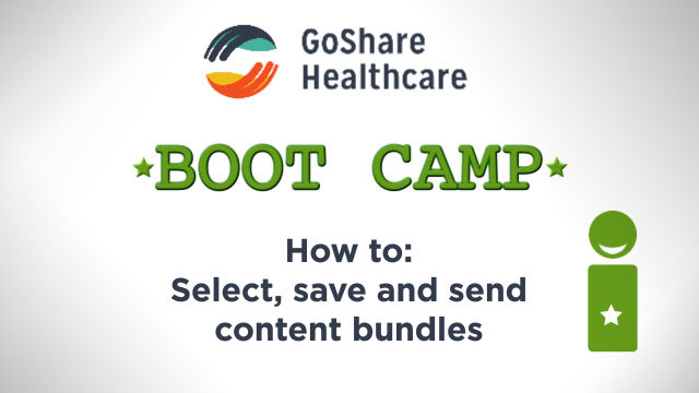 Select, save and send content bundles