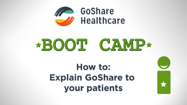 How to explain GoShare to your patients