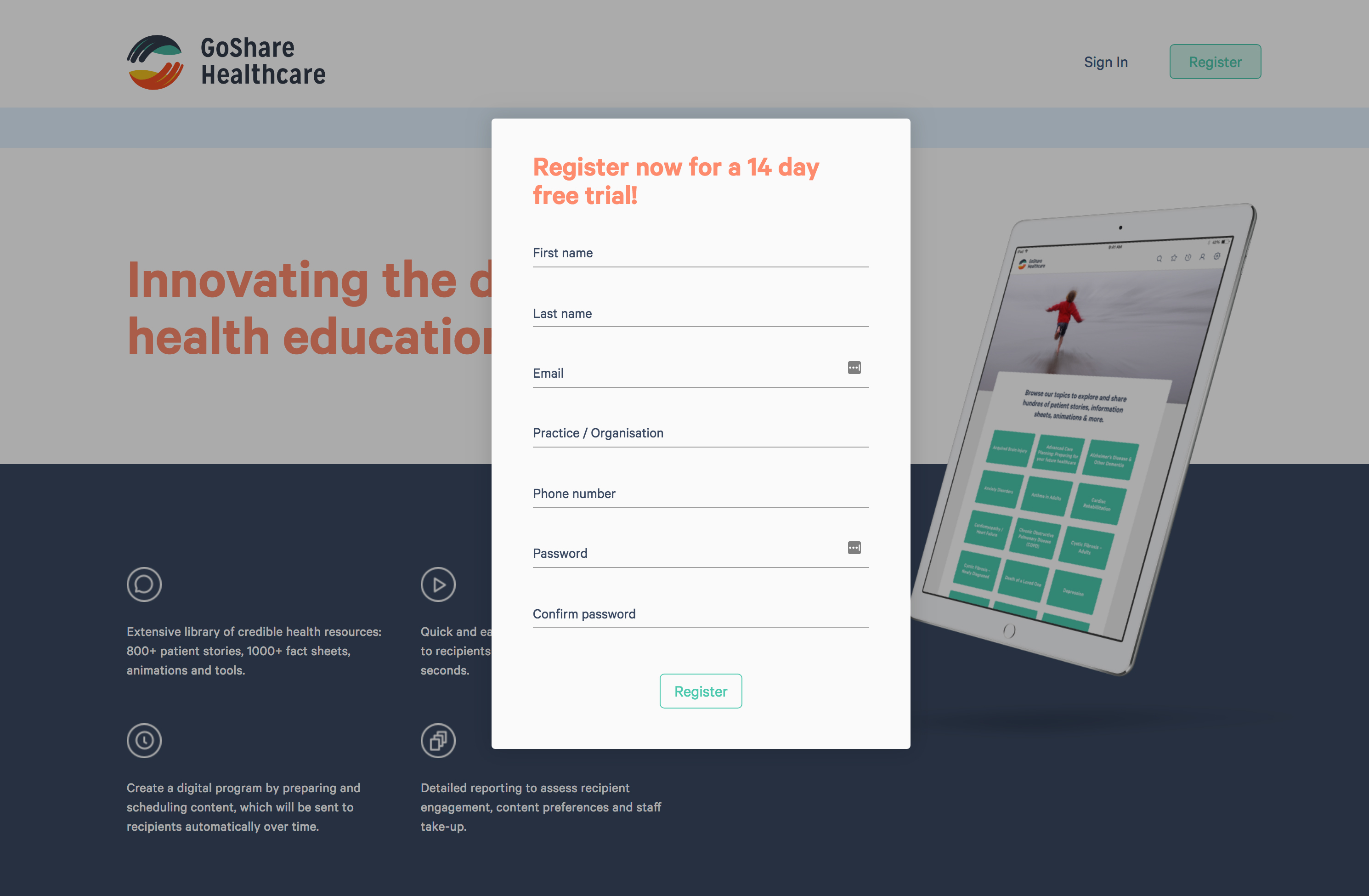 Free 14 day trial of GoShare