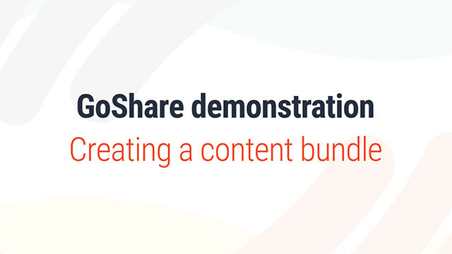 Creating a content bundle
