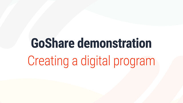 Creating a digital program